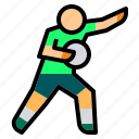 athlete, defence, football, goal, keeper, player, soccer icon