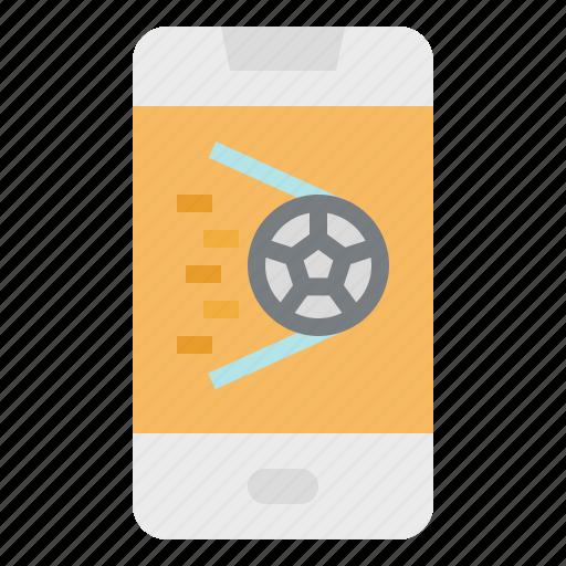 app, football, mobile, phone, soccer, technology icon