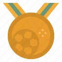 award, champion, medal, soccer, sports, winner icon