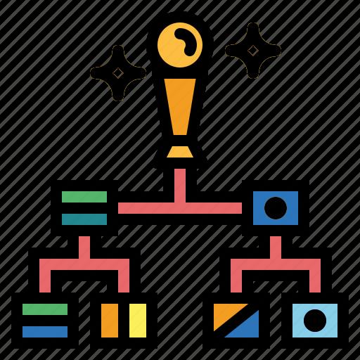 diagram, hierarchical, hierarchy, organization icon