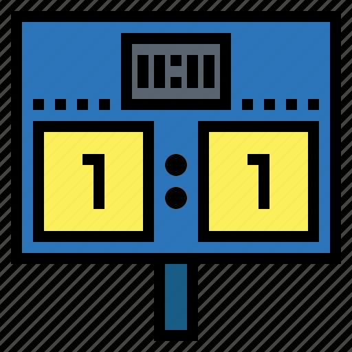 result, score, scoreboard, scoring icon