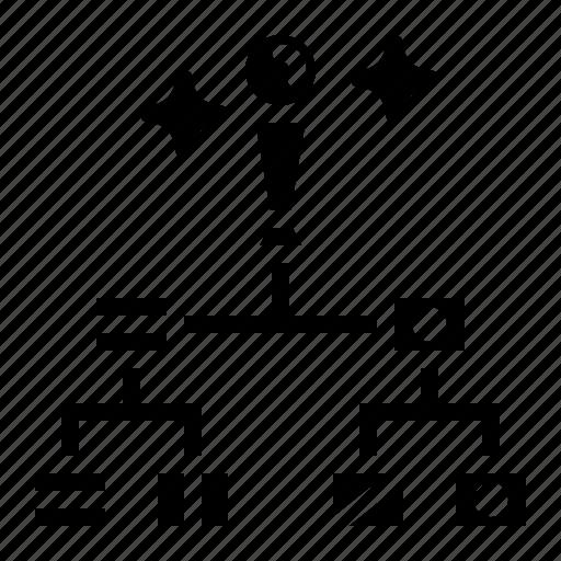 Diagram, hierarchical, hierarchy, organization icon - Download on Iconfinder