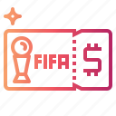 access, entry, match, ticket icon