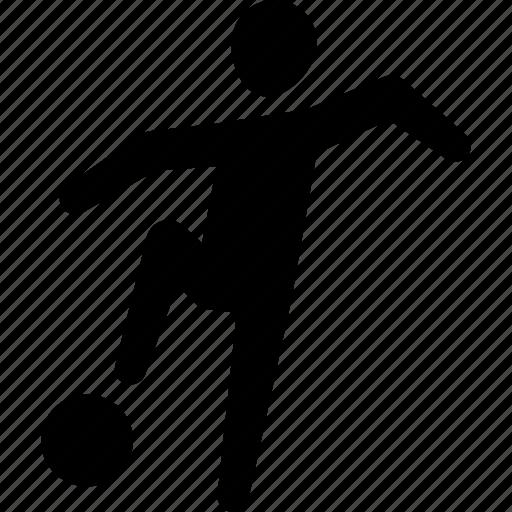 athlete, ball, football, player, soccer icon