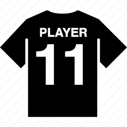back, football, player, shirt, soccer, team icon