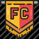 soccer, college, flag, banner, football, club