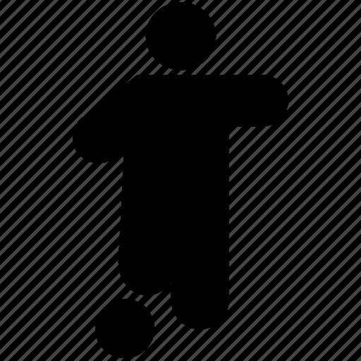 Athlete, football player, soccer player, sportsman, sportsperson icon - Download on Iconfinder