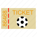 championship, field, football, goal, kick, soccer, sport, ticket icon