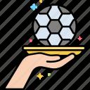 assist, ball, football, hand icon