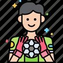 football, goalkeeper, soccer, sport icon