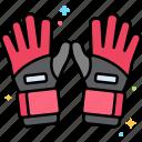 football, gloves, goalkeeper, hand icon