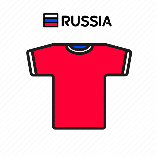 cup, football, jersey, russia, shirt, soccer, world icon