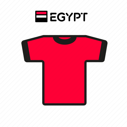 cup, egypt, football, jersey, shirt, soccer, world icon