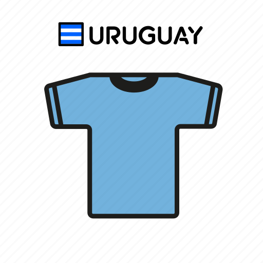 cup, football, jersey, shirt, soccer, uruguay, world icon