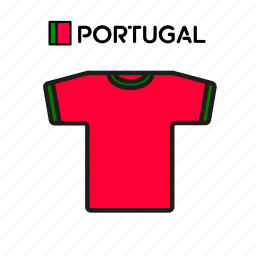 cup, football, jersey, portugal, shirt, soccer, world icon