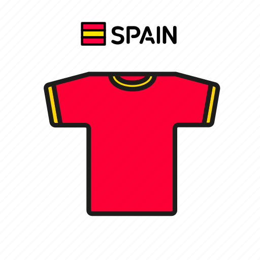 cup, football, jersey, shirt, soccer, spain, world icon