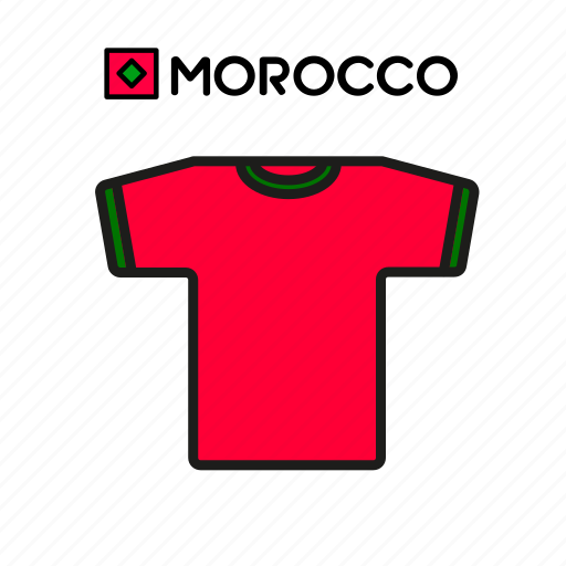 cup, football, jersey, morocco, shirt, soccer, world icon