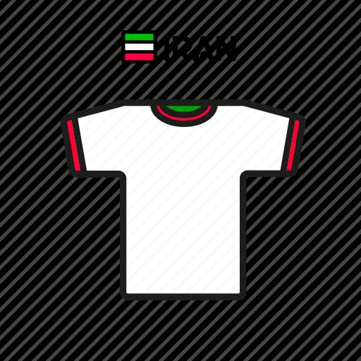 cup, football, iran, jersey, shirt, soccer, world icon