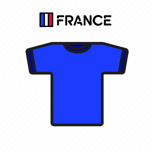 cup, football, france, jersey, shirt, soccer, world icon