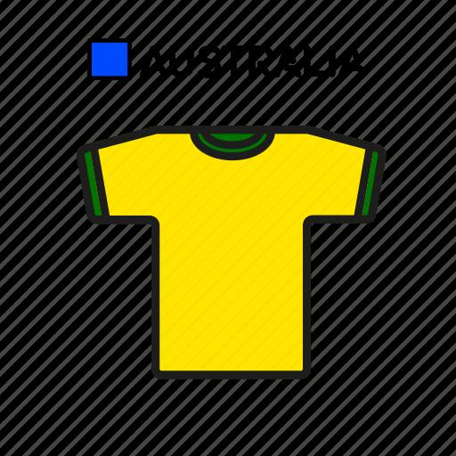 australia, cup, football, jersey, shirt, soccer, world icon