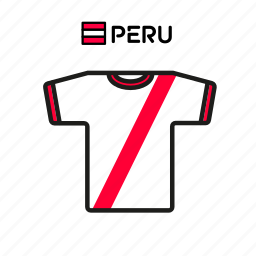 cup, football, jersey, peru, shirt, soccer, world icon