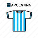 argentina, cup, football, jersey, shirt, soccer, world icon