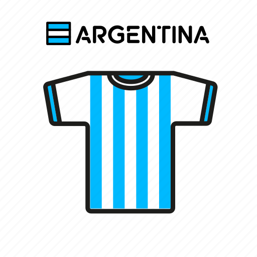 Argentina, cup, football, jersey, shirt, soccer, world icon - Download on Iconfinder