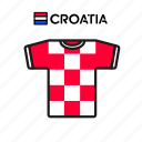 croatia, cup, football, jersey, shirt, soccer, world icon