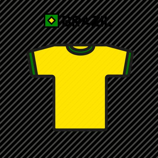 brazil, cup, football, jersey, shirt, soccer, world icon