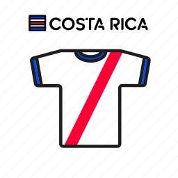 costa rica, cup, football, jersey, shirt, soccer, world icon