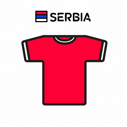cup, football, jersey, serbia, shirt, soccer, world icon