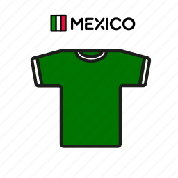 cup, football, jersey, mexico, shirt, soccer, world icon