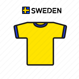 cup, football, jersey, shirt, soccer, sweden, world icon