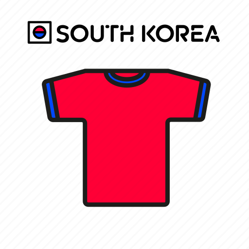 cup, football, jersey, shirt, soccer, south korea, world icon