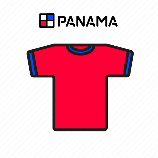 cup, football, jersey, panama, shirt, soccer, world icon