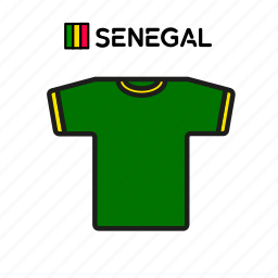 cup, football, jersey, senegal, shirt, soccer, world icon