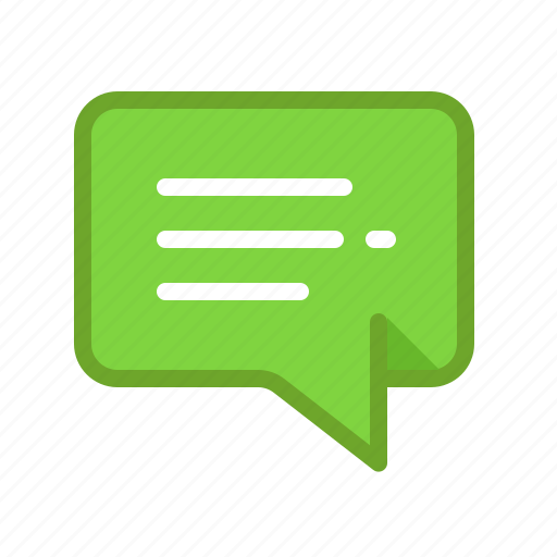 bubble, chat, comment, dialog, discussion, message, text icon