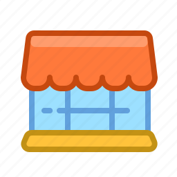 building, buy, cart, item, old, shopping, store icon