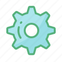 adjusting, gear, option, properties, settings, wheel
