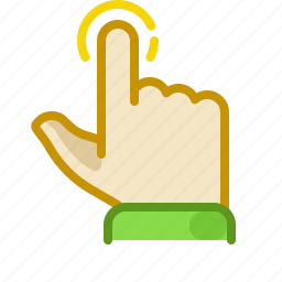 finger, gesture, hand, interface, palm, tap, touchscreen icon