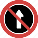don't go up, dont go straight, go straight is ban, go straight is not allowed, up blocked icon