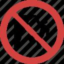climbing blocked, climbing forbid, climbing illegal, climbing not allowed, climbing prohibition, no climbing, stop climbing icon