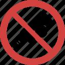 bat ball blocked, bat ball forbid, bat ball illegal, bat ball not allowed, bat ball prohibition, no bat ball, stop bat ball icon
