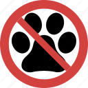 no pet, pet blocked, pet forbid, pet illegal, pet not allowed, pet prohibition icon