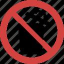no open dustbin, open dustbin blocked, open dustbin forbid, open dustbin illegal, open dustbin not allowed, open dustbin prohibition, stop open dustbin icon