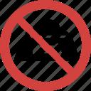 no pet food, pet food blocked, pet food forbid, pet food illegal, pet food not allowed, pet food prohibition, stop pet food icon