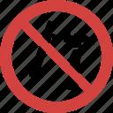 nail rivet blocked, nail rivet forbid, nail rivet illegal, nail rivet not allowed, nail rivet prohibition, no nail rivet, stop nail rivet icon