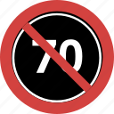 block, forbid, no 70, not allowed, prohibition, stop, stop 70 icon