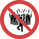 forbid, no noise, noise, not allowed, protest, sign, singing icon