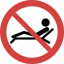 no sunbath, stop sunbath, sunbath blocked, sunbath forbid, sunbath illegal, sunbath not allowed, sunbath prohibition icon